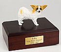 Papillon, Brown-White Dog Figurine Cremation Urn