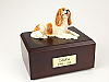 King Charles Spaniel, Brown Dog Figurine Cremation Urn