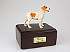 Brittany,Brown Standing Dog Figurine Cremation Urn
