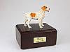 Brittany,Brown Standing Dog Figurine Cremation Urn