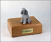 Poodle, Grey - sport cut Dog Figurine Cremation Urn