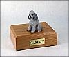 Poodle, Grey - sport cut Dog Figurine Cremation Urn