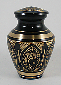 Bali Brass Cremation Keepsake Urn