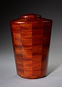 Joy Padauk Wood Cremation Urn