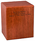 Affordable Hardwood Cremation Urn