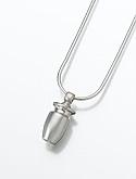 Silver Cremation Urn Keepsake Pendant