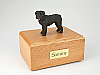 Bouvier Gray Standing Dog Figurine Cremation Urn
