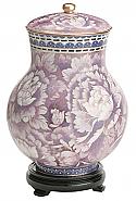 Small Lavender Garden Cloisonne Cremation Urn