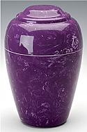 Amethyst Grecian Marble Cremation Urn
