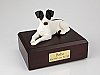 Jack Russell Terrier, Black-White Dog Figurine Cremation Urn