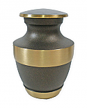 Rustic Bronze Brass Keepsake Cremation Urn