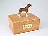 Boxer, Brindle - ears down Light Sienna-White Standing Dog Figurine Cremation Urn