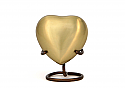 Brushed Bronze Heart Keepsake Cremation Urn