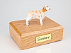 English Setter, Orange Belton Dog Figurine Cremation Urn