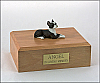 Boston Terrier Laying Dog Figurine Cremation Urn