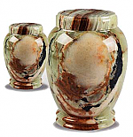 Medium Size Traditional Onyx Marble Cremation Urns