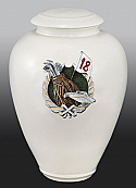 18 Holes of Golf Porcelain Cremation Urn