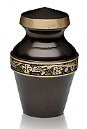 Deep Brown Keepsake Cremation Urn