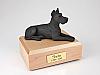 Great Dane, Black Laying Dog Figurine Cremation Urn