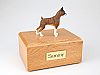 Boxer, Brindle - ears up Black Shaded Standing Dog Figurine Cremation Urn