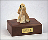 Cocker Spaniel Buff Sitting  Dog Figurine Cremation Urn