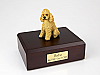 Poodle, Apricot - sport cut Dog Figurine Cremation Urn