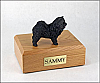 Chow, Black Ears Up Standing Dog Figurine Cremation Urn