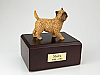 Cairn Terrier BurlyWood  Standing  Dog Figurine Cremation Urn