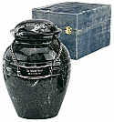 Small Black Grain Marble Cremation Urn