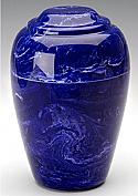 Cobalt Grecian Marble Cremation Urn