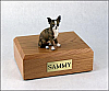 Chihuahua, Brindle Sitting Dog Figurine Cremation Urn