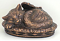 Copper/Bronze Angel Winged Kitty Cremation Urn