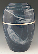 Serenity Navy Cultured Marble Cremation Urn