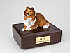 Collie, Sable Laying  Dog Figurine Cremation Urn