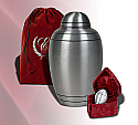 Brushed Pewter Alloy Cremation Urn