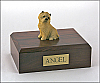 Cairn Terrier Tan Sitting Dog Figurine Cremation Urn