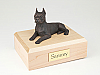 Boston Terrier Bronze Laying Dog Figurine Cremation Urn