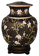 Imperial Garden Companion Cloisonne Cremation Urn