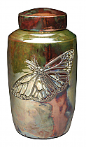 Butterfly Raku Ceramic Cremation Urn