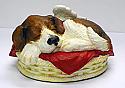 Custom Painted Angel Winged Dog Cremation Urn