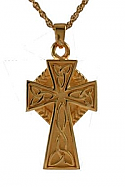 Gold celtic cross jewelry Cremation Urn