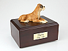 Boxer - ears down Yellow Laying Dog Figurine Cremation Urn