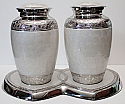 Companion Nickel Plated Pearl White Cremation Urn