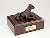 Boxer, Brindle - Bronze - ears down laying Dog Figurine Cremation Urn