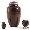 Deep Brown Brass Cremation Urn