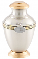 Arcadia Pewter and Brass Cremation Urn