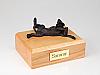 Bloodhound Bronze Laying Dog Figurine Cremation Urn