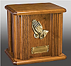 Praying Hands Oak Cremation Urn
