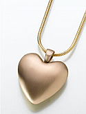 Bronze Heart Cremation Pendant