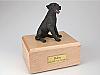 Labrador, Black Sitting Dog Figurine Cremation Urn